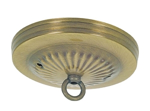 21202 - Traditional Antique Brass Finish Canopy Kits