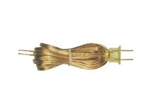 29005 - 8-inch Gold Lamp Cord Set for 18/2 SPT-2