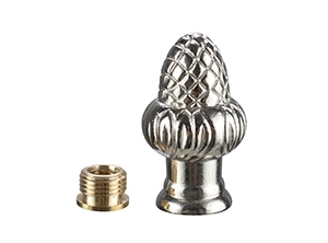28802 - Nickel Acorn Reducer Lamp Finial