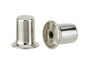 28007 - Two 1 inch Nickel Lamp Finials