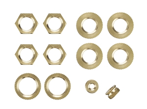 24102 - Solid Brass 12 Assorted Hex Lock Nuts
