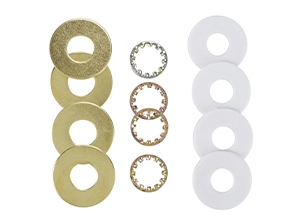 24105 - 1/8 IP Brass-Pated Steel 12 Assorted Washers