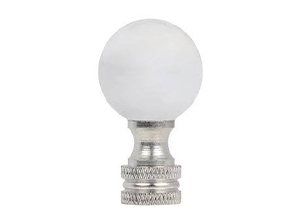 28003 - Nickel Glass Ball Lamp Finial