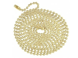 17107 Series Brass Finish Beaded Chain with Connector