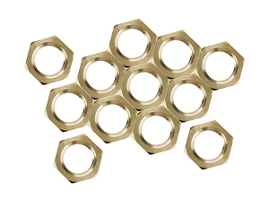 24108 - 1/8 IP Solid Brass 12 Hex Nuts