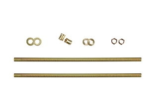22203 - Steel Zinc-Plated All Thread Lamp Pipe Kit