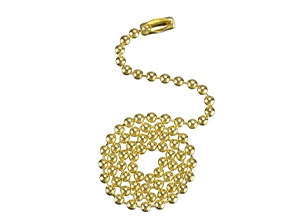 17101 Series Solid Brass Finish Beaded Chain