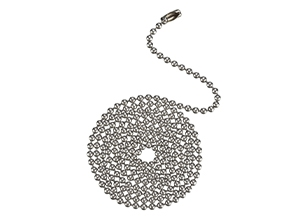 17104 Series Stainless Steel Finish Beaded Chain