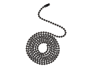 17106 - Oil Rubbed Bronze Finish Beaded Chain with Connector