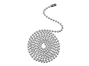 17110 - Chrome Finish Beaded Chain with Connector